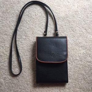 Handy crossbody bag   Black w/brown accents.